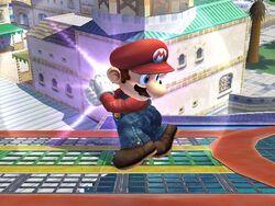 Ataque Smash lateral cargamento Mario SSBB