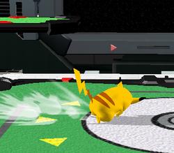 Ataque de recuperación de cara al suelo de Pikachu (1) SSBM