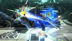 Lanzamiento hacia atrás Cloud SSB4 (Wii U)