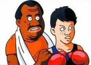 Artwork de Doc Louis y Little Mac en Punch-Out!! (NES)