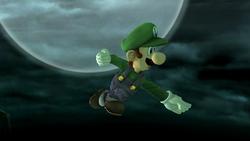 Ataque aéreo hacia adelante Luigi SSBB