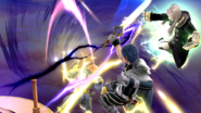 Daraen mujer haciendo su Smash Final contra Captain Falcon SSB4 (Wii U)