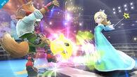 Estela lanzando a Destello contra Fox SSB4 (Wii U)
