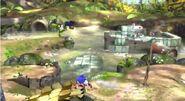 Luigi y Sonic en el Vergel de la Esperanza SSB4 (Wii U)