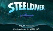 Pantalla de titulo de Steel Diver