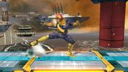 Ataque Smash inferior de Captain Falcon (2) SSB4 (Wii U)