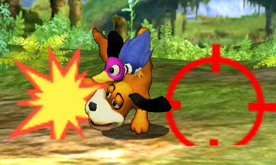 Ataque Smash inferior del Dúo Duck Hunt SSB4 (3DS)