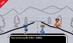 Pac-Man, Sonic y Mega Man en PictoChat 2 SSB4 (3DS) (2)