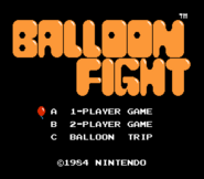 Pantalla de titulo de Balloon Fight