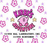 Pantalla de titulo de Kirby's Adventure