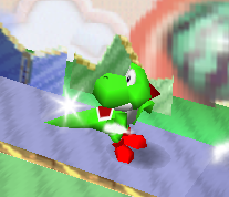 Ataque Smash hacia abajo de Yoshi (2) SSB
