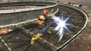 Ataque aéreo delantero de Captain Falcon SSB4 (Wii U)