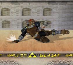Ataque fuerte hacia abajo de Ganondorf SSBM