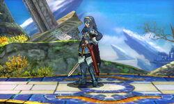 Burla hacia abajo Lucina SSB4 (3DS)