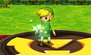 Burla lateral Toon Link SSB4 (3DS)