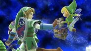 Créditos Modo Leyendas de la lucha Link SSB4 (Wii U)