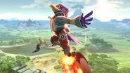 Falco usando Pájaro de fuego SSBU