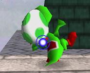 Lanzamiento huevo de Yoshi SSB