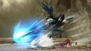 Movimiento especial lateral de Bayonetta (1) SSB4 (Wii U)
