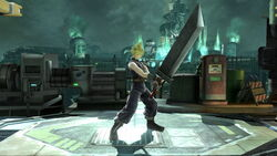 Pose de espera 1 Cloud SSB4 (Wii U)