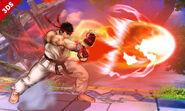 Ryu usando su Hadoken SSB4 (3DS)