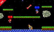 Varios Aldeanos en Balloon Fight (version 2) SSB4 (3DS)