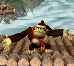 Ataque Smash hacia arriba de Donkey Kong (1) SSBM