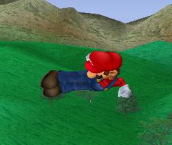 Ataque aéreo hacia atrás de Mario SSBM