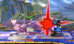 Ataque de recuperación derribo Mewtwo (2) SSB4 (3DS)