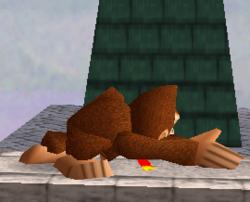 Ataque fuerte hacia abajo de Donkey Kong SSB