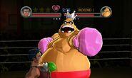 Little Mac esquivando un ataque en Punch-Out!! (Wii)