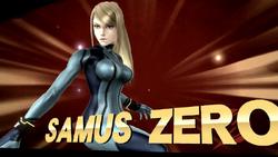 Pose de victoria de Samus Zero (1-2) SSB4 (Wii U)