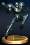 Trofeo de Samus Oscura SSBB