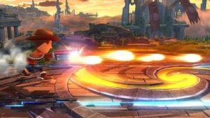 Ataque Smash lateral Tirador Mii SSB4 Wii U