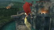 Ataque aéreo inferior de Ike (2) SSB4 (Wii U)