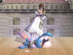 Lanzamiento inferior Zelda SSBB