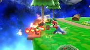 Mario usando la Barrera de fuego (1) SSB4 (Wii U)