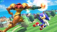 Sonic y Samus en la Isla de Pilotwings SSB4 (Wii U)