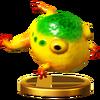 Trofeo de Sapo gigante amarillo SSB4 (Wii U )