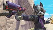 Wolf usando su bláster SSBU