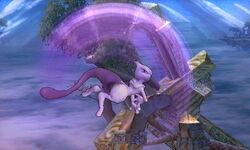 Ataque aéreo hacia arriba Mewtwo SSB4 (3DS)