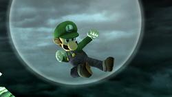 Ataque aéreo normal Luigi SSBB