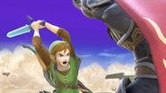 Link y Ganondorf en el Templo de Palutena SSBU
