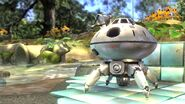 Nave en escenario de Pikmin SSB4 (Wii U)
