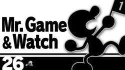 26 Mr. Game & Watch – Super Smash Bros