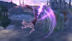 Ataque aéreo hacia atrás Mewtwo SSB4 (Wii U)