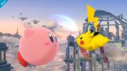Pikachu después de usar su ataque rápido SSB4 (Wii U)