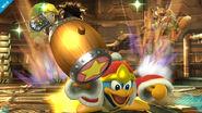 Rey Dedede al usar el Súper Salto Dedede SSB4 (Wii U)