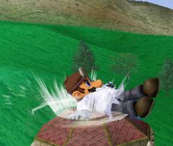 Ataque Smash hacia abajo de Dr. Mario (1) SSBM