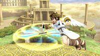 Ataque aéreo hacia adelante Pit SSB4 Wii U